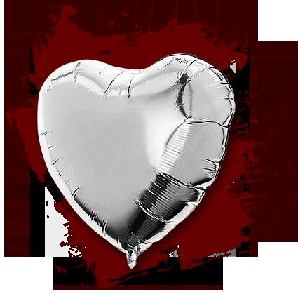 Trauerbox - Helium Luft Ballon - Grussbotschaft an Verstorbenen