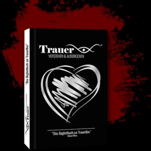 Begleitbuch Trauerbox weinrot