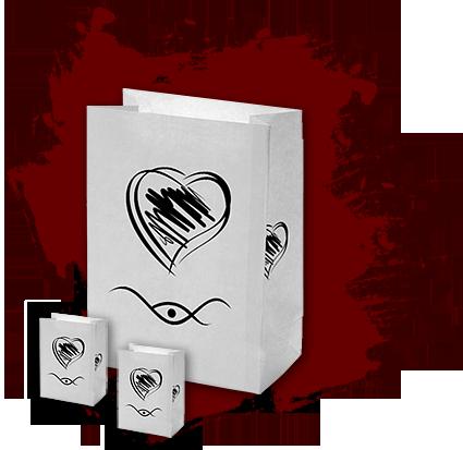 Trauerbox - Lichttüten und Teelicht - Gedenklicht