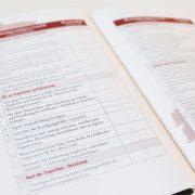 Trauerbox - Begleitbuch Checklisten